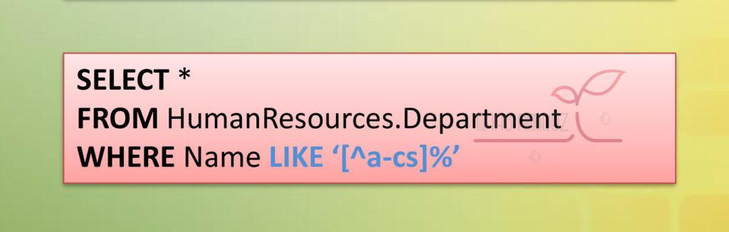 مثال کاربرد عملگر LIKE در SQL Server برای فیلتر کردن فیلدهای متنی در دیتابیس - مدرس شهاب ساری اصلانی