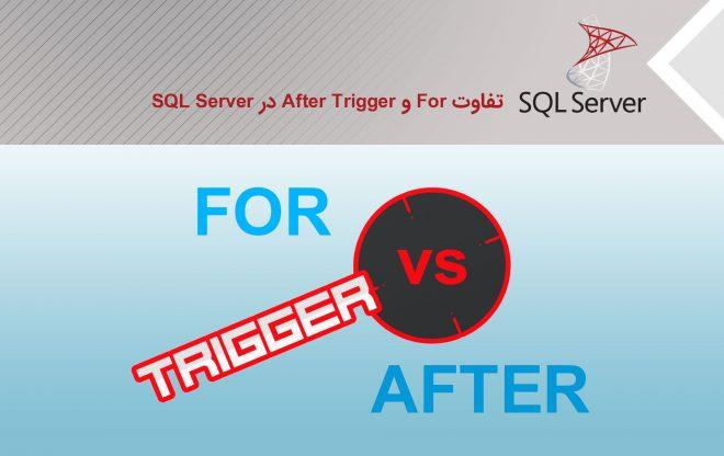 تفاوت for و after trigger در SQL Server